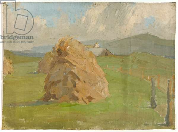 Scottish hayrick, 1928 (circa) (painting)