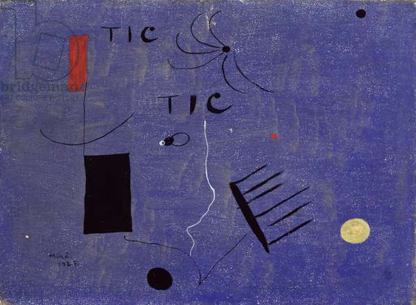Tic Tic, 1927 (oil and hand-written inscription on canvas)