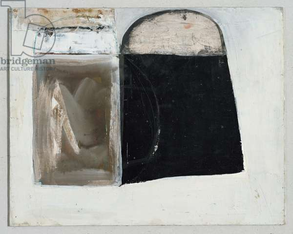 Black, Brown, Grey with Blue, 1963-64 (circa) (painting)