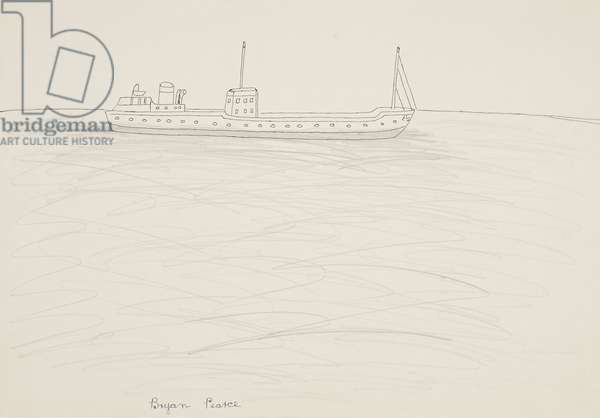 Boat on an Empty Sea, n.d. (drawing)