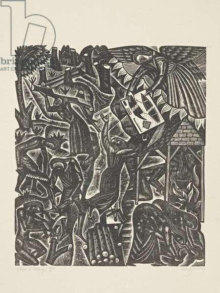 The Deluge (2): Noah Receives the Plans, 1927 (print)