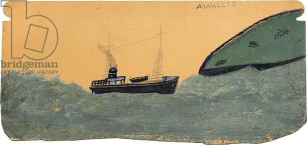 Motor vessel near land, n.d. (painting)