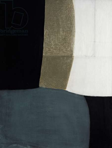 October 1955 Calm (Black, Grey, Brown and White), 1955 (painting)