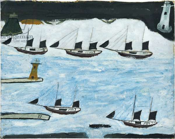 Five ships - Mount's Bay, 1928 (circa) (painting)