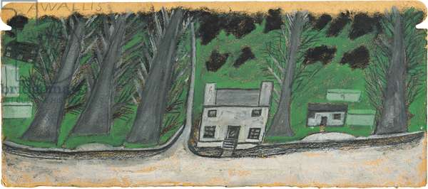 House with trees, 1935-37 (circa) (painting)