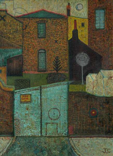Blue Gates, Charlton Village, 1974 (6 August) (painting)