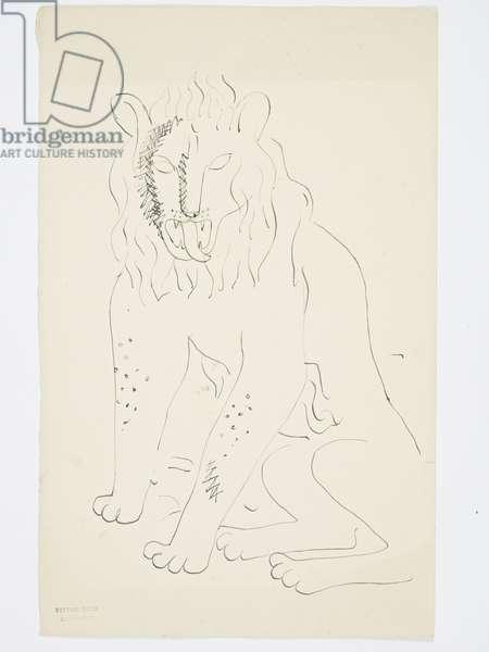 Lion, 1928 (?) (drawing)