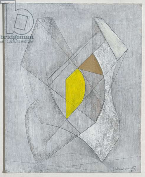 Two Forms, Yellow and Brown, 1947 (painting)