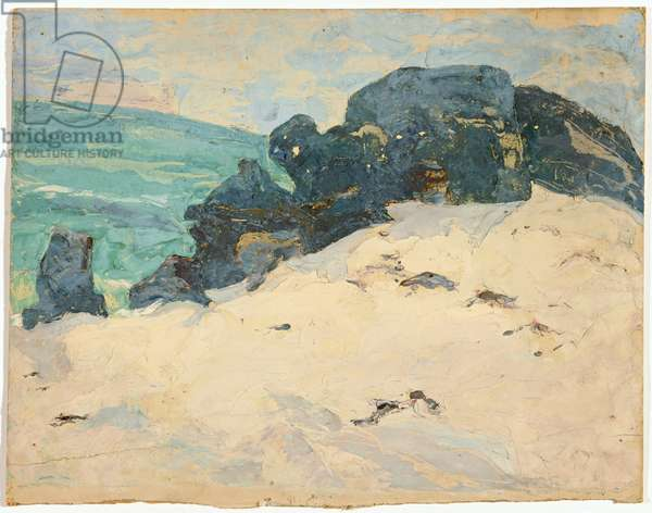 Rocks in the sea (verso of HSE 7), 1928 (circa) (painting)