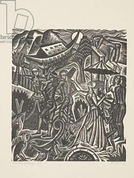 The Deluge (4): No Rain - the Mock Continues, 1927 (print)
