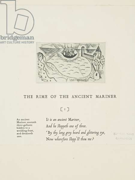 Headpiece for 'Rimes of the Ancient Mariner' (The Harbour), 1928 (print)