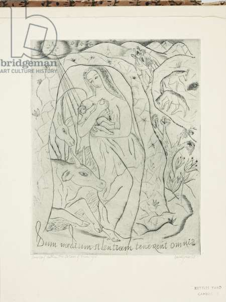Nativity with Beasts and Shepherds, 1927 (print)