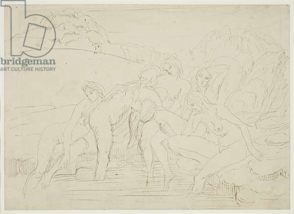 Bathers, 1935-40 (drawing)