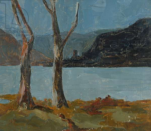 Trees by a lake, 1928 (?) (painting)