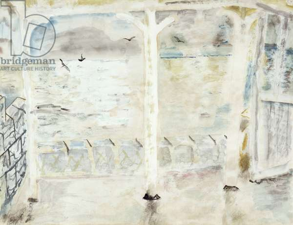 Seascape from a Terrace, 1929 (w/c on paper)