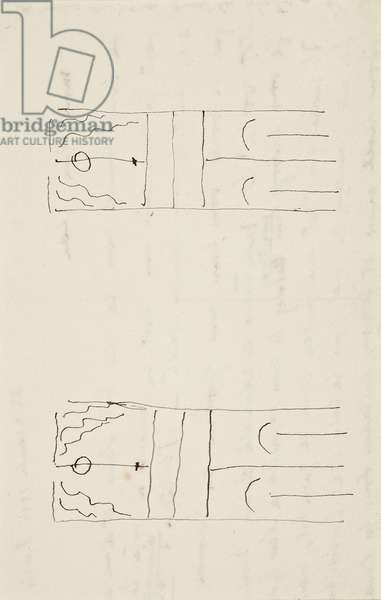 Letter with drawing, 1933 (22 December) (drawing)