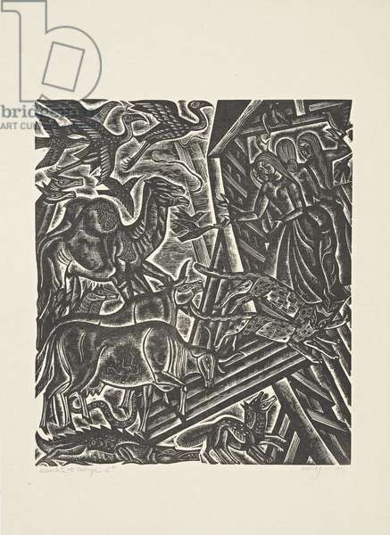 The Deluge (6): The Entry into the Ark, 1927 (print)