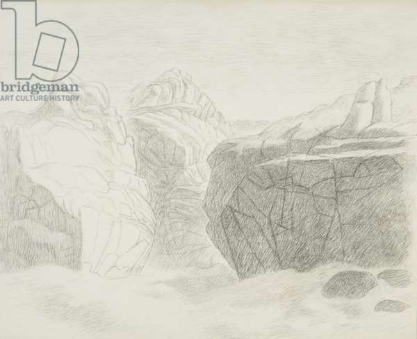 The Rocks of St. Agnes, 1966 (drawing)