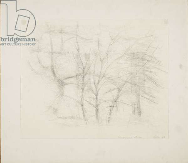 Still Snowing - But Less, 1966 (drawing)