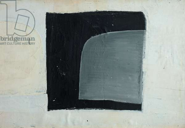 Composition (Grey Form over Black Square), 1963 (circa) (painting)