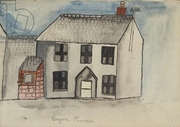 Old Cottage - St. Ives, 1955 (circa) (drawing)