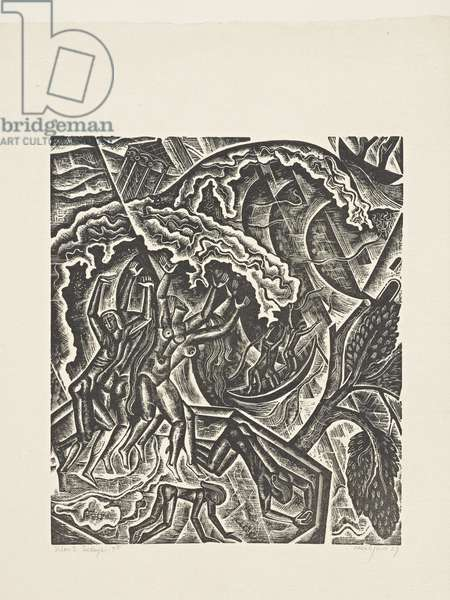 The Deluge (7): The Fountains of the Deep, 1927 (print)