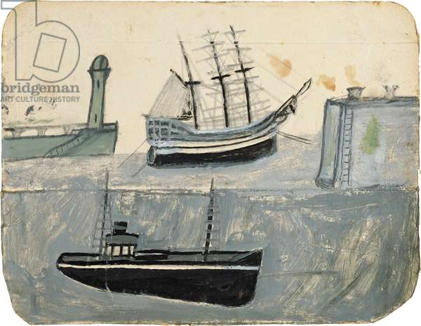 Ships in harbour, n.d. (painting)