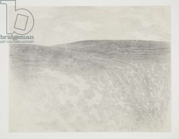 Mountain Top - The Gully, Llanthony, 1966 (drawing)