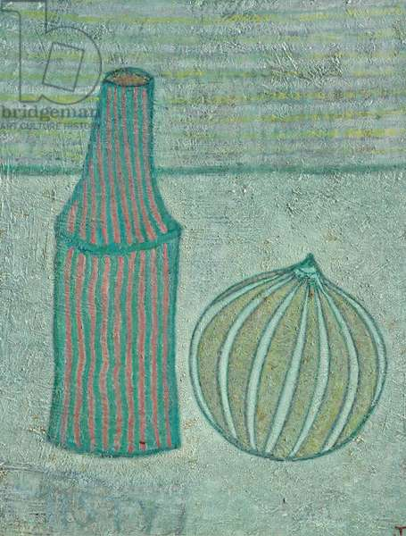 Bottle and Melon, 1969 (August) (painting)