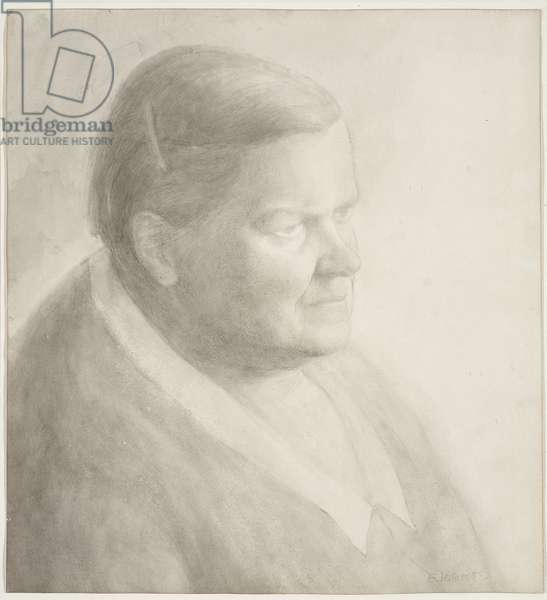 Portrait of Gwen Raverat, 1954 (drawing)