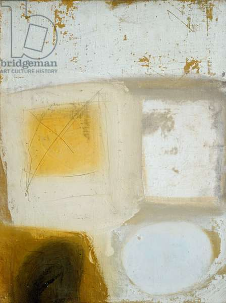 Composition (Brown, Yellow, White), 1963 (February) (painting)