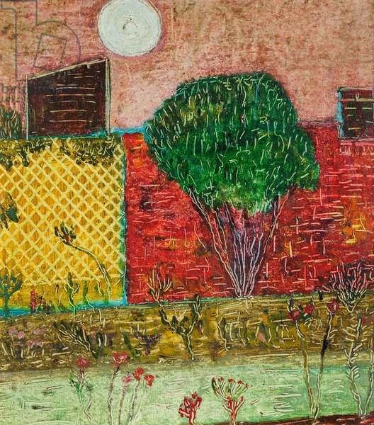 The Walled Garden, 1966 (August) (painting)