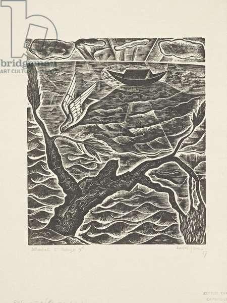 The Deluge (9): The Dove, 1927 (print)