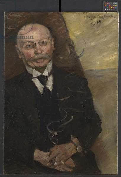 Portrait of the Art Dealer Heinrich Thannhauser, 1918 (oil on canvas)