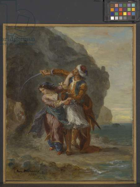 Selim and Zuleika, 1857 (oil on canvas)