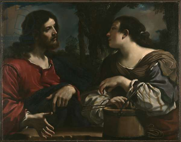 Christ and the Woman of Samaria, c.1619-20 (oil on canvas)