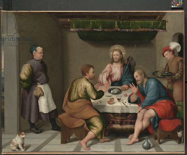 The Supper at Emmaus, c.1538 (oil on canvas)
