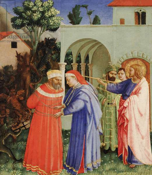 The Apostle St. James the Greater Freeing the Magician Hermogenes, c.1427 (tempera & gold on panel)