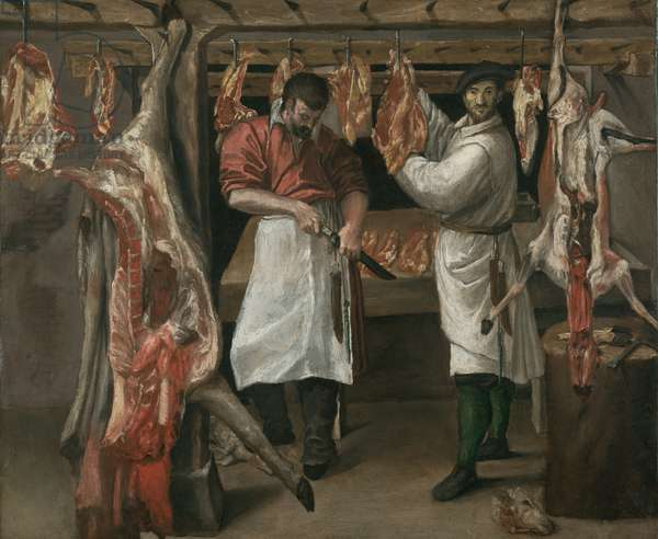 The Butcher's Shop, early 1580s (oil on canvas)