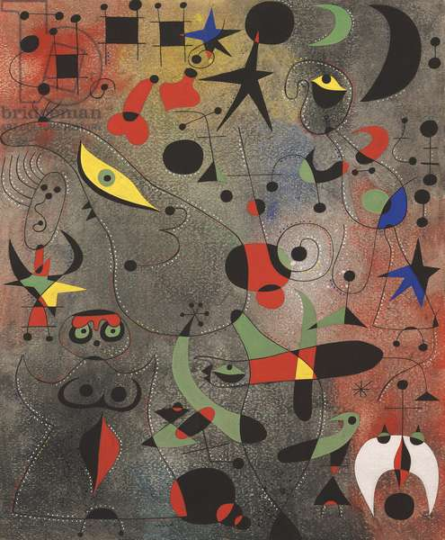 Constellation : Awakening in the Early Morning, 1941 (gouache and oil wash on paper)