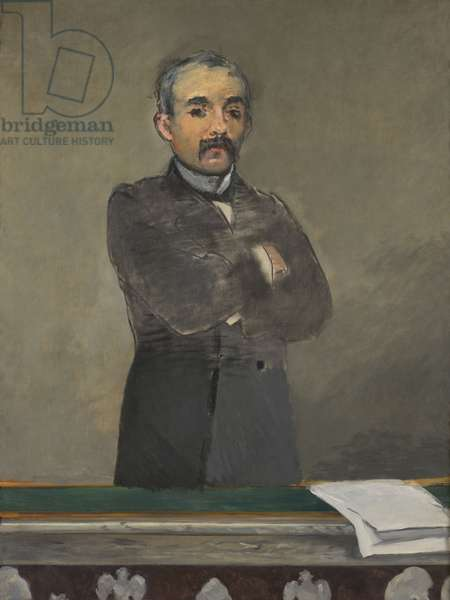 Portrait of Georges Clemenceau, 1879-80 (oil on canvas)
