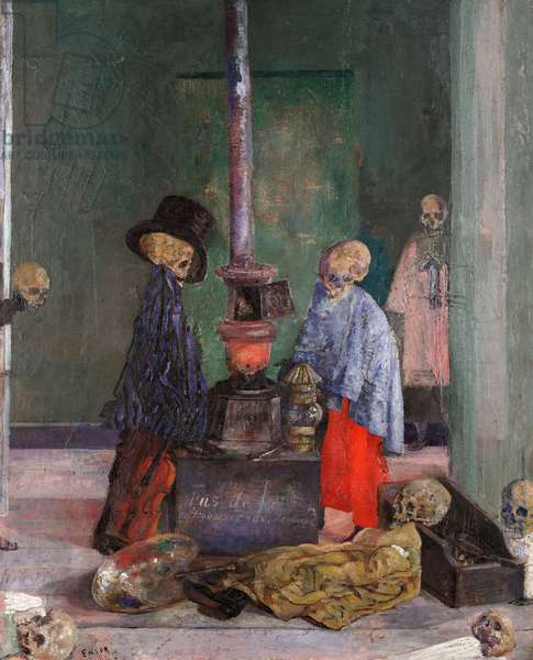 Skeletons Warming Themselves, 1889 (oil on canvas)