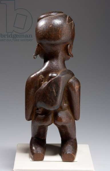 Kneeling Mother and Child, late 19th century (wood)
