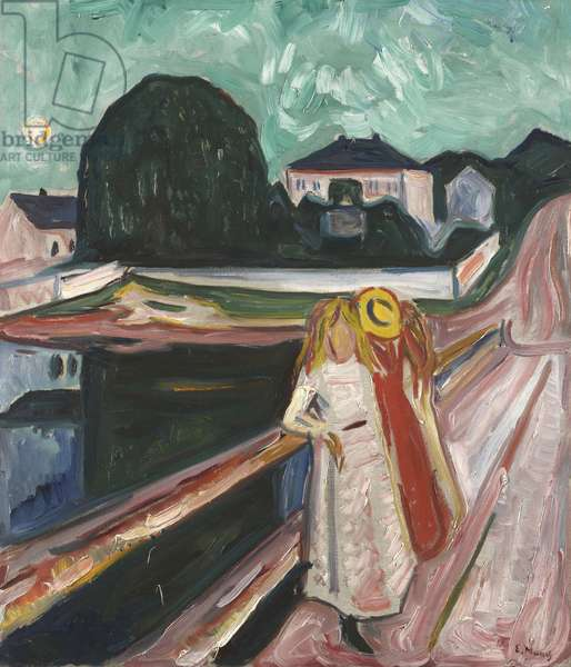 Girls on the Pier, c.1904 (oil on canvas)