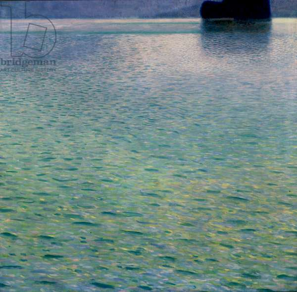 Island in the Attersee, 1901 (oil on canvas)