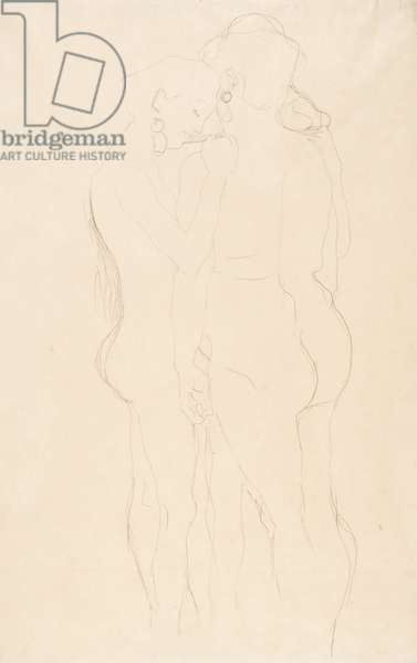 Three Female Nudes Standing, c.1908 (pencil on simile Japan paper)