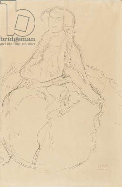 Seated Woman (Amalie Zuckerkandl), 1917 (pencil on cream wove paper)