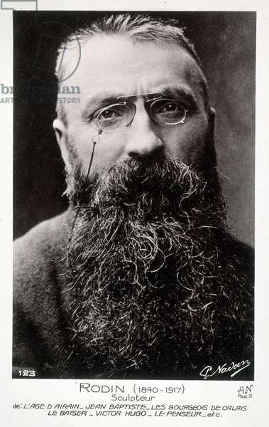 Auguste Rodin (1840-1917) (b&w photo)