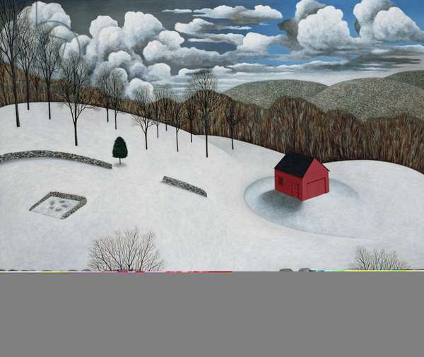 Winter on Wig Hill, 1991 (167.6x198.1)