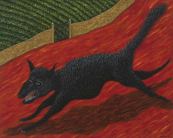 Un Chien Merchant, 1996 (oil on linen)